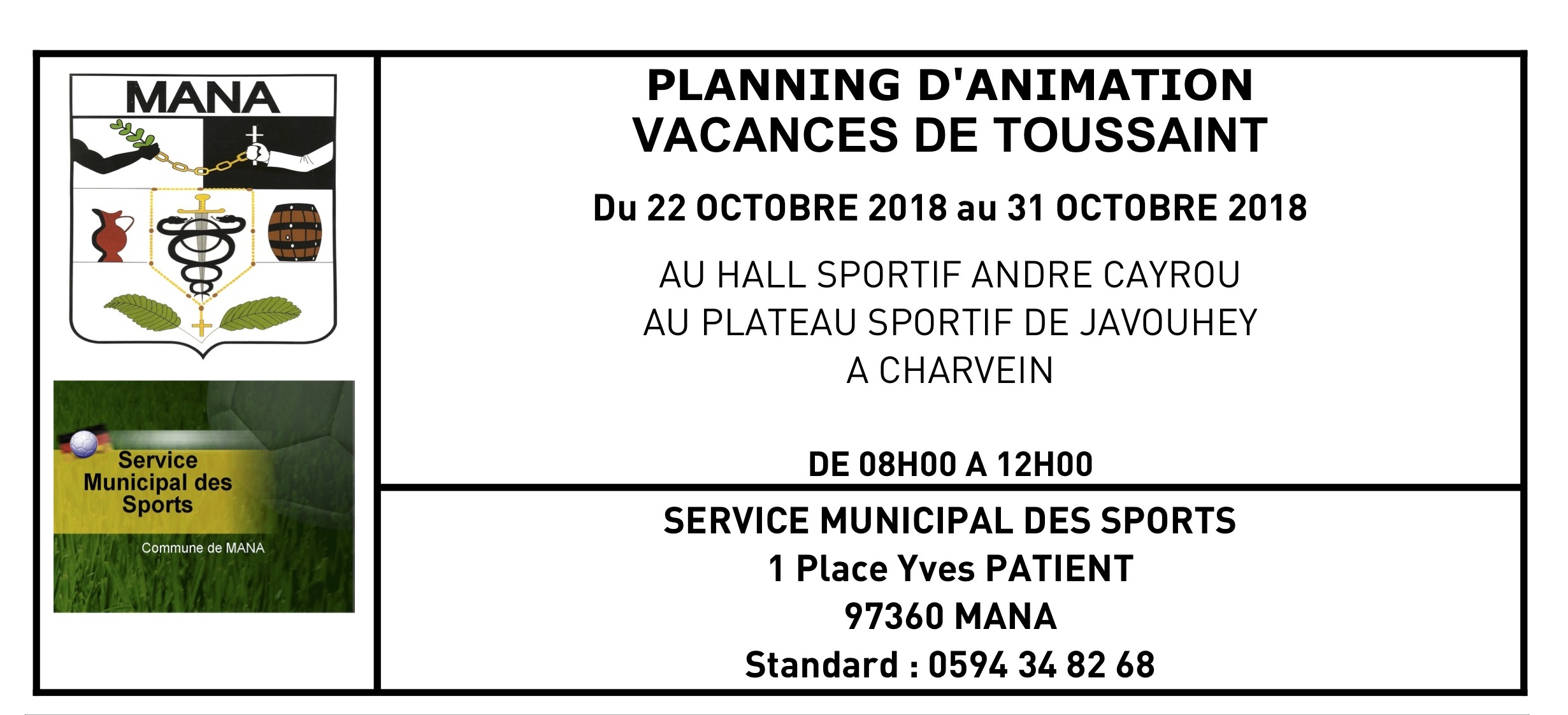 Planning d'animation Toussaint