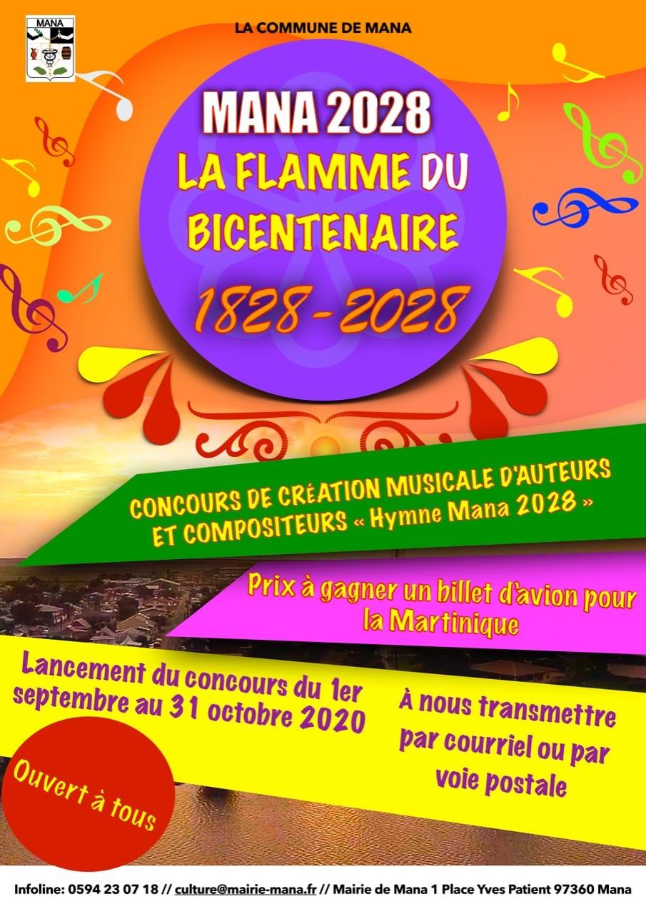 Affiche La flamme du bicentenaire création musicale