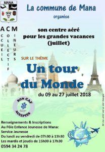 AFFICHE ACM JUILLET TOUR DU MONDE